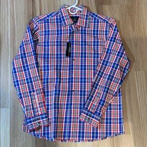 Franco Vanucci Long Sleeve Button Down Shirt